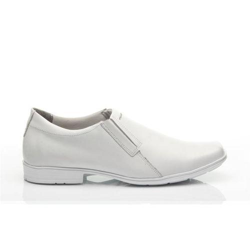 b13b52af4 Sapato Pegada Masculino em Couro Branco 22308-51