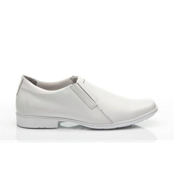 b637ec08cce Sapato Pegada Masculino em Couro Branco 22308-51 - pegada