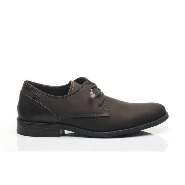 d73a02c10a Sapato Pegada Masculino em Couro Cravo 124536-05 - pegada