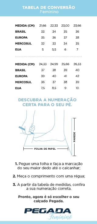 Tabela de Medidas - Feminino (Mobile)
