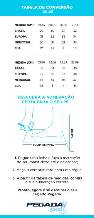 Tabela de Medidas  - Small (Mobile)