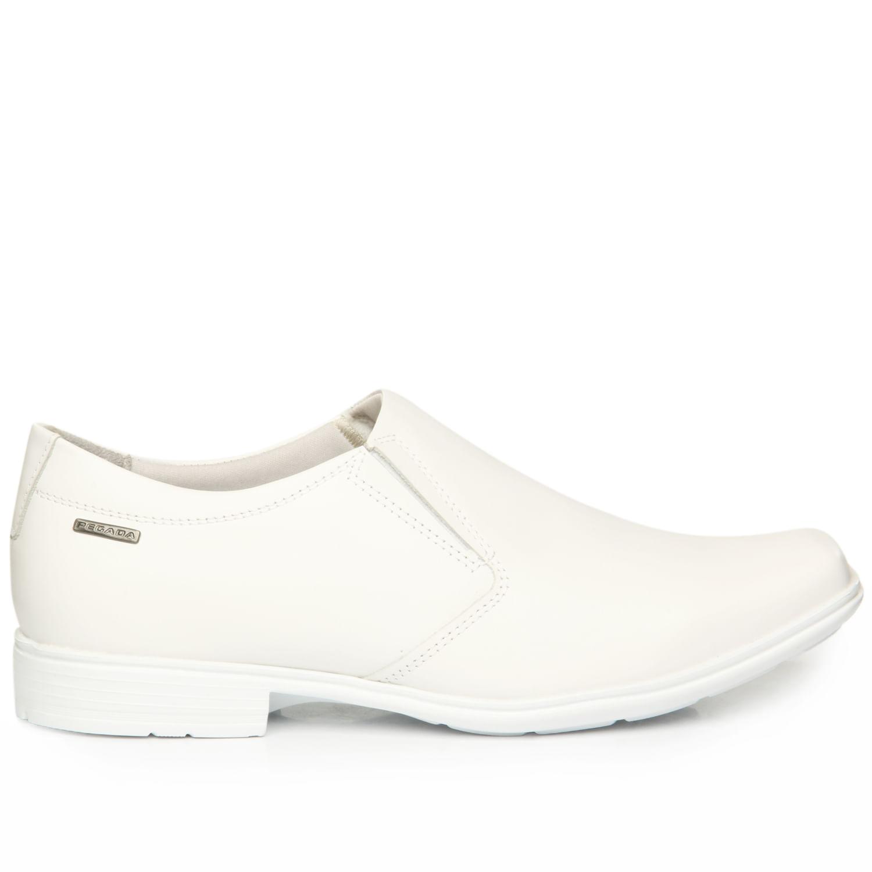 Sapato Social Pegada Masculino em Couro Branco 122321-01