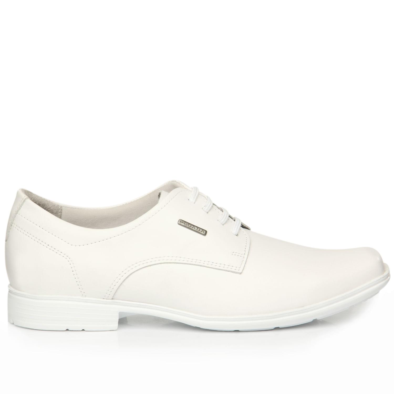Sapato Social Pegada Masculino em Couro Branco 122322-01